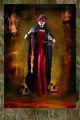 Dark Tarot, Justice, red dress, female model, mystery, fantasy