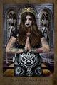 Queen, Queen of Pentacles, Gothic, Church, Tarot card, Dark tarot