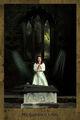 Alter, church ruins, female model, blood, dark Tarot