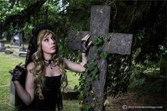 At the graveyard