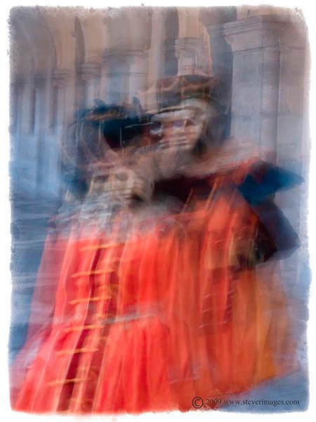 Courtyard intrigue,Venice Carnival , photo