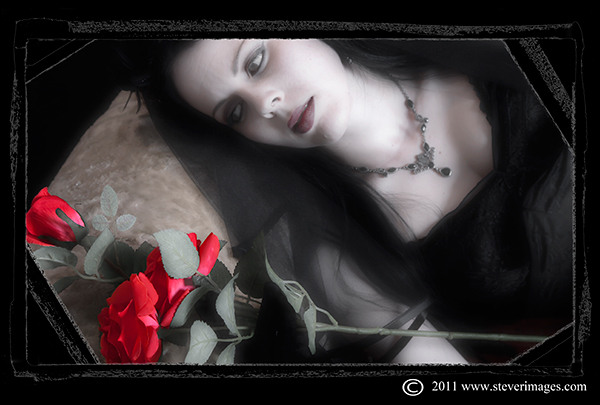 Dracula's Bride, red roses, photo