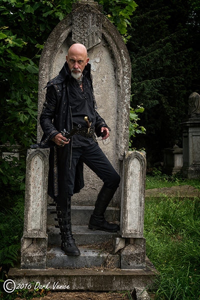 gothic male model, Kensal Green cemetery, photo