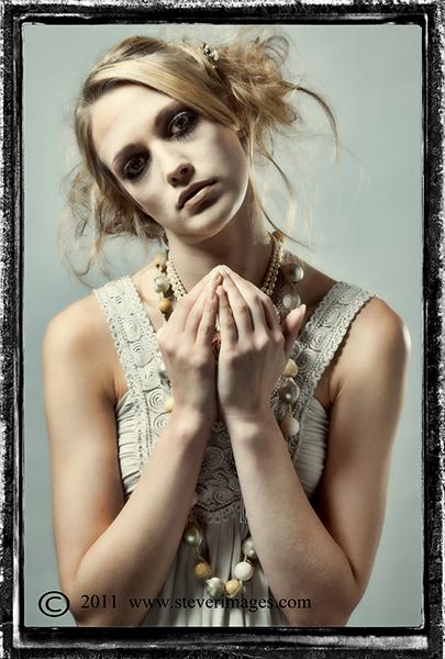 Irreverent prayer, Zombie doll, girl, photo