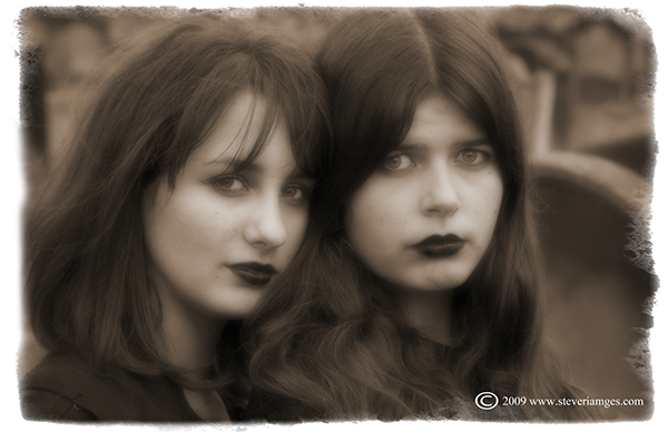 Portrait, Dark sisters, Goth Festival, Whitby, photo