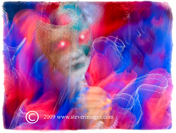 Mask, Venice Carnival, red and blue., photo