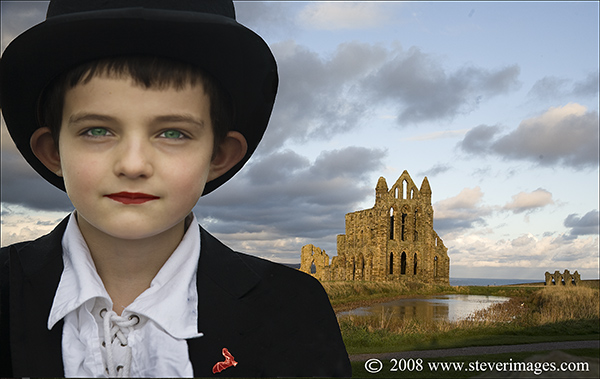 A composite image from the Goth Festival at Whitby