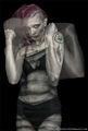 Anger, female model, mental health, subdued colour
