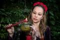 Natasha, garden, ritual, candle, flame