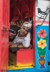 Man , portrait, taking a rest in lorry