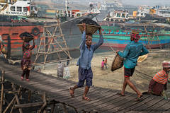 Coal carriers, Boatyard, Bangladesh