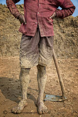 Brick factory worker