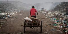 Rubbish dump, workers, Bangladesh