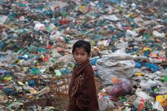 Rubbish dump, child, Bangladesh