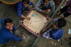 board game, in streets, in Bangladesh