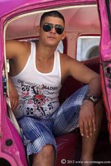 Car owner, portrait, Cuba