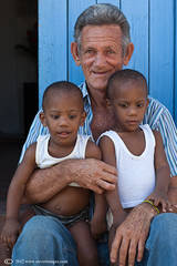 Children with Grandad