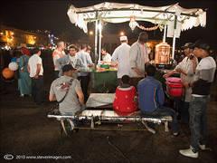 Djemaa-el-Fna Market at Night