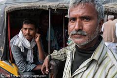 Portraits, Indian men, Sonepur Mela, Taxi