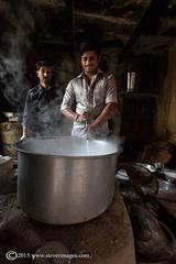 Two Indian workmen, backstreets of Varanasi, India