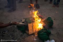 burning effigy, India