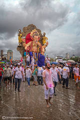 Ganesh procession, Mumbai, India