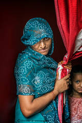 Portrait, Indian woman and child