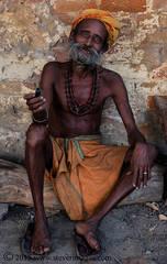 Portrait, Holy man, Varanasi India