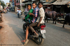 Boys on bike, Varanasi India