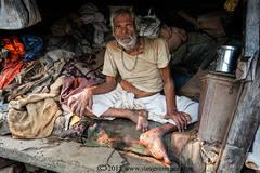 Portrait, Indian man, Varanasi streets