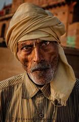 Man, portrait, Varanasi