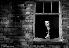 Nuns, Black and white, abandoned, cross, contemplation