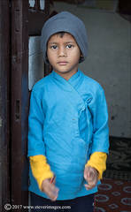 Boy in Blue , Nepal, child portrait