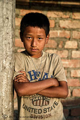 Portrait of young boy in Nepal