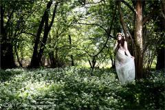 Outdoors, woodland, Nude , female portrait