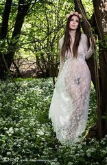 Outdoors, woodland, nude female portrait