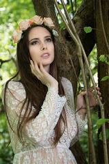 Outdoor, Female portrait, woodlands