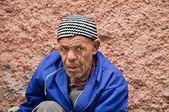 Marrakech, Morocco, Chive seller