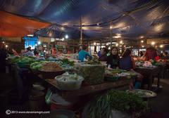 under cover market,Bac Ha market North Vietnam