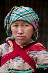 Bac Ha market, North Vietnam, Portrait of Vietnam people
