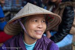 Portrait, Vietnamize hat, Bac Ha market, North Vietnam