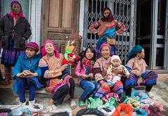 people at Bac Ha market North Vietnam