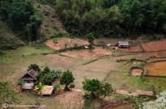 Huts, North Vietnam countryside