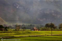 Landscape, Mai Chau valley, North Vietnam