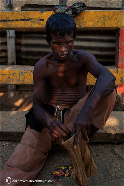 Male portrait at shipyard, Bangladesh