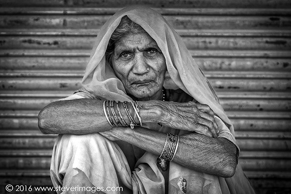 Portrait, Black and White , Indian woman