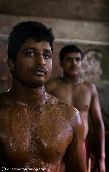 Wrestlers, portrait, India