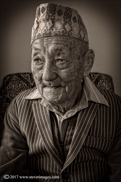 Portrait of elderly Gurkha veteran