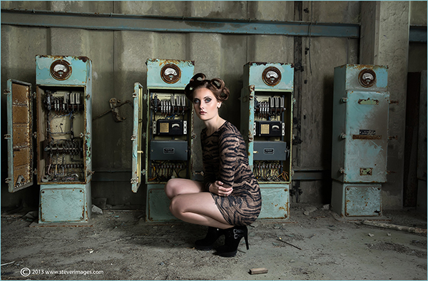 Model shoot in 2013 taken at a disused cement factory in Sussex