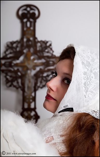 Angel, White Angel,Crucifix , photo